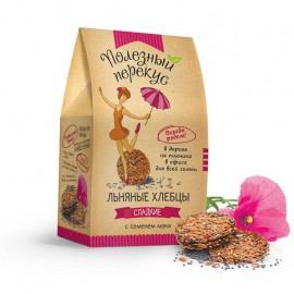 Хлебцы льняные сладкие с семенем мака 100 гр